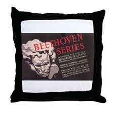 WPA Beethoven Series Concerts Throw Pillow