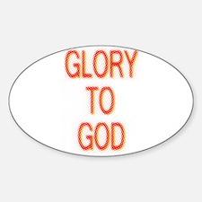 Glory to God Oval Decal