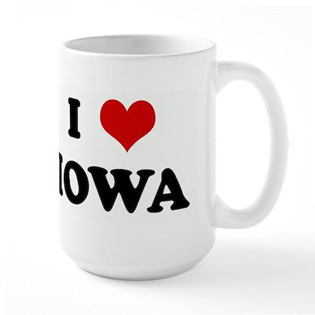 I Love IOWA Large Mug