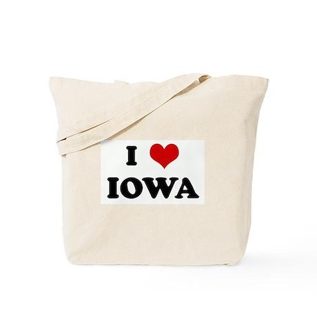 I Love IOWA Tote Bag