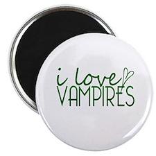 I love Vampires - green Magnet