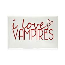 I love Vampires - red Rectangle Magnet