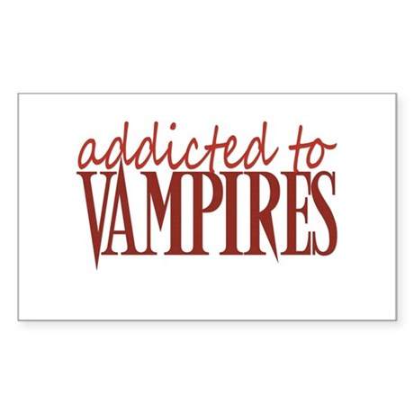 Addicted to vampires - red Rectangle Sticker