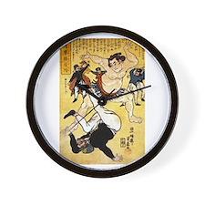 Foreigner and Wrestler at Yokohama Wall Clock