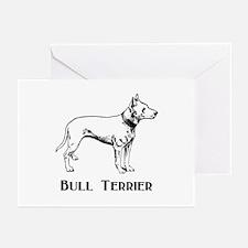 Bull Terrier Greeting Cards (Pk of 10)