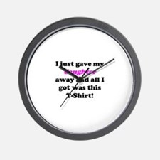 Unique Funny father of the bride Wall Clock