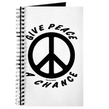 Solid Give Peace A Chance Journal