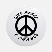 Solid Give Peace A Chance Ornament (Round)