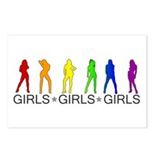 Girls Girls Girls Postcards (Package of 8)