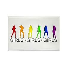 Girls Girls Girls Rectangle Magnet