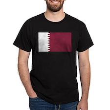 Qatar Flag Black T-Shirt