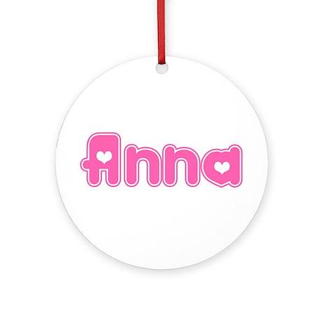 """Anna"" Ornament (Round)"