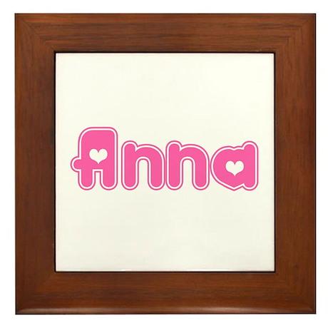"""""""Anna"""" Framed Tile"""