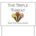 Triple Threat Challenge Yard Sign
