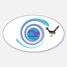 Swirly Roadrunner Oval Decal