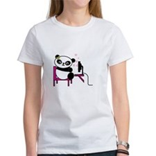Women's White T-Shirt (Panda - Female)