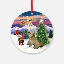 Lhasa Apso Christmas Ornament (Round)