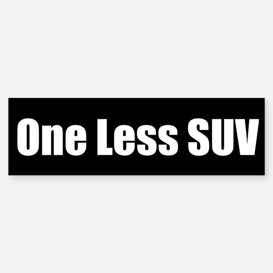 One Less Car Bumper Stickers Cafepress