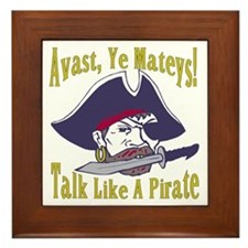 Talk Like A Pirate Framed Tile