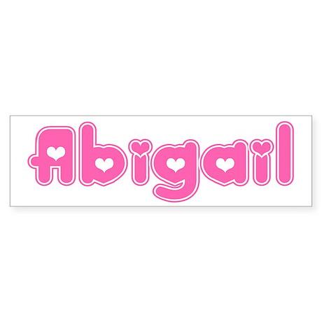 """""""Abigail"""" Bumper Sticker"""
