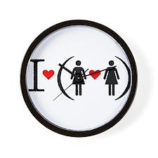 I love lesbians Wall Clock