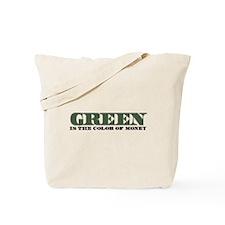 Green Money Tote Bag