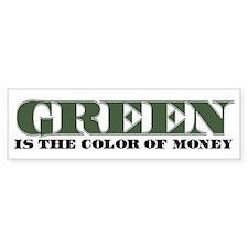 Green Money Bumper Bumper Sticker