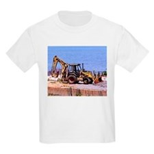Back Hoe truck art on Kids T-Shirt