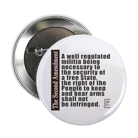 """2nd Amendment 2.25"""" Button (10 pack)"""
