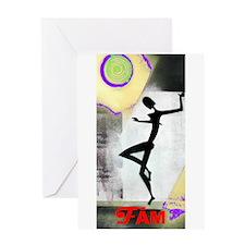 Girl Dance Fame 2 Greeting Card
