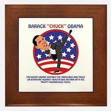 Obama Defends Uninsured Framed Tile