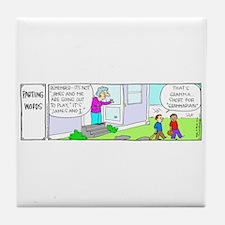 Gramma Grammarian Tile Coaster