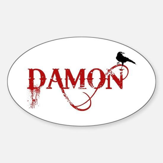 Damon Crow Oval Decal