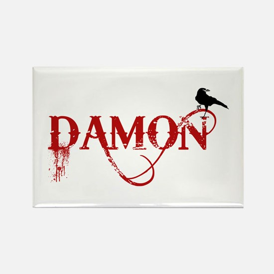 Damon Crow Rectangle Magnet