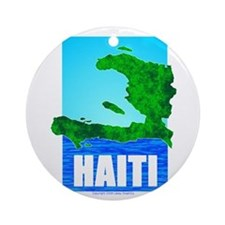 Cute Haiti map Ornament (Round)