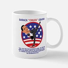 Cowering In Front Of Obama Mug