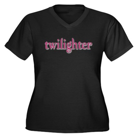 Twilighter (Pink/Dark) Women's Plus Size V-Neck Da