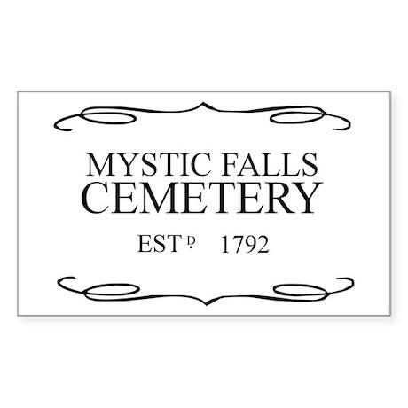 Mystic Falls Cemetery Rectangle Sticker