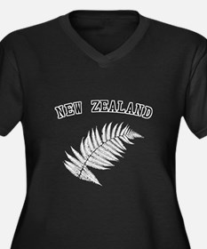 New Zealand Silver Fern Women's Plus Size V-Neck D