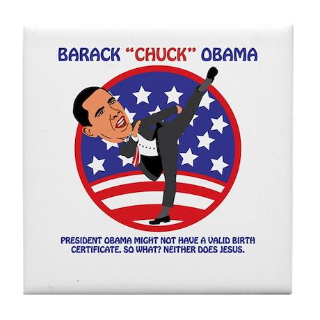 No Obama BIrth Certificate Tile Coaster