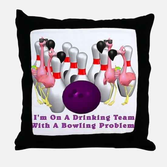 Bowling Problem Throw Pillow