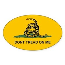 Gadsden Dont Tread Oval Sticker (10 pk)