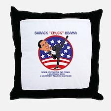 Senior Citizen Fears Throw Pillow