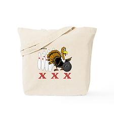 Bowling Turkey Tote Bag