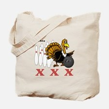 Bowling Turkey Tote Bag