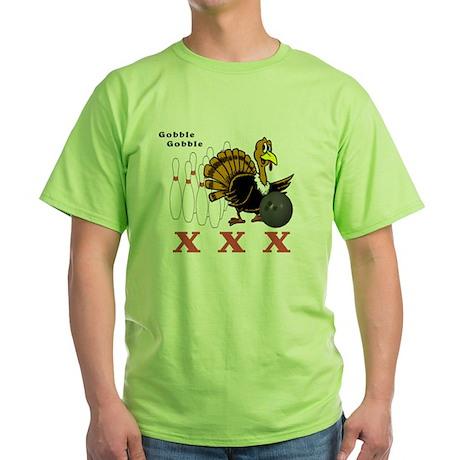 Bowling Turkey Green T-Shirt