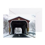 Covered Bridge in Snow Greeting Cards (Pk of 10)