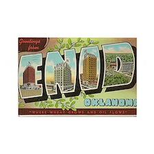 Enid Oklahoma Vintage Post Card Rectangle Magnet