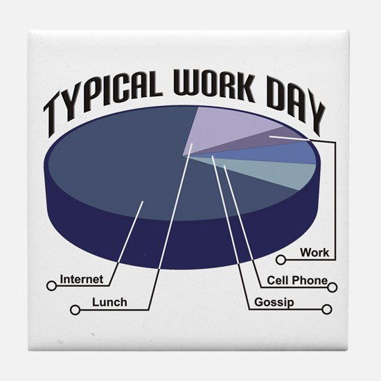Typical Work Day Tile Coaster