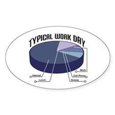 Typical Work Day Oval Decal